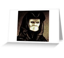Spooky mask of Venetian tradition Greeting Card
