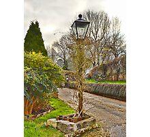 A Garden Lamp Photographic Print