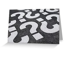 Question mark sign Greeting Card