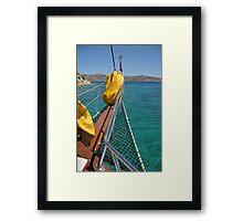 Boat cruising Framed Print