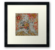Three Hares Framed Print