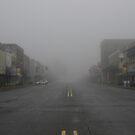 Main Street Fog by WildestArt