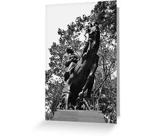 Statue of Jose Marti Greeting Card