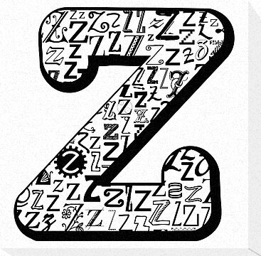 The Letter Z, white background by Julie Hartman