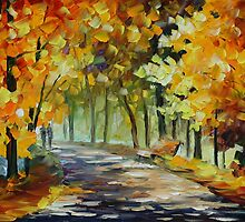 UNDER THE GOLD ARCH - LEONID AFREMOV by Leonid  Afremov