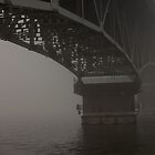 Bridge into Fog by Dawn Crouse