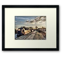 Cold and Frosty Framed Print