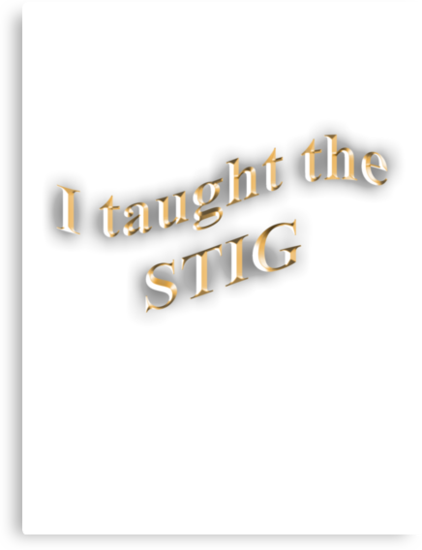 I Taught the STIG in Gold by Daniel Bowers