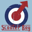 Retro look scooter boy mod target design by Auslandesign
