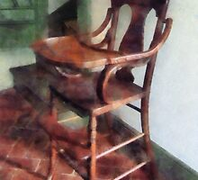 Wooden High Chair by Susan Savad