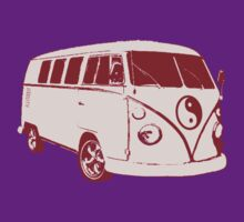 VW camper ying yang pink by Chris-Cox