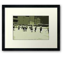 High School Hockey 101 Green - 2 Framed Print