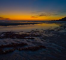 Yellow Low Tide Sundown by Crispel