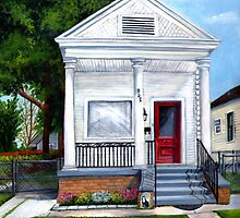 White Shotgun House by Elaine Hodges