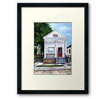 White Shotgun House Framed Print