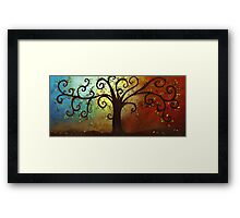 Curly Branches Tree Framed Print