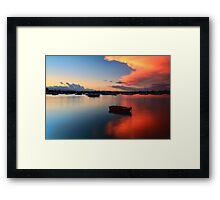 Floating Sunset Framed Print