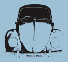 VW Beetle Shirt - Black mom's bug - personalized by melodyart