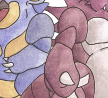 Beech Collection - Nidoking and Nidoqueen Sticker