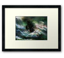 The Rage of Poseidon Framed Print