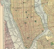 Old map of NYC by Ommik