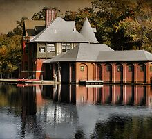 Basking Boathouse by Robin-Lee
