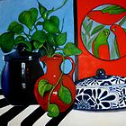 STILL LIFE WITH POTS AND PARROTS by Redlady