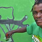 Green paint - portrait by Shamila Chady