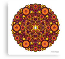 Mandala 37 Coloured v1.0 Prints, Cards & Posters Canvas Print