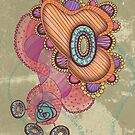 Jellyfish, Day Greeting Card by Janet Antepara