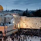 Sabbath at the Wailing Wall, Jerusalem by Tony Roddam