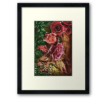 Background with flowers . Framed Print