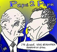 caricature options binaires - les deux Papa Grec by Binary-Options