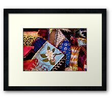 Sewing - Patchwork - Grandma's quilt  Framed Print