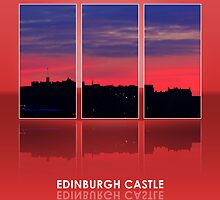 Edinburgh Castle Sunset by SteveGraham43