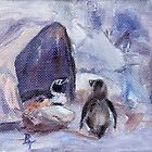 Nesting Penguins by Brenda Thour