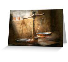 Lawyer - Scale - Balanced law Greeting Card