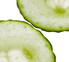 Cucumber Green White Wall Art by Natalie Kinnear