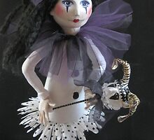 Girl With Her Puppet by m catherine doherty