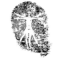 Vitruvian Man Fingerprint (Light) Photographic Print