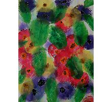 Flowers in foliage Photographic Print