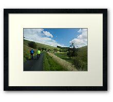 Coast to Coast Cycling Framed Print