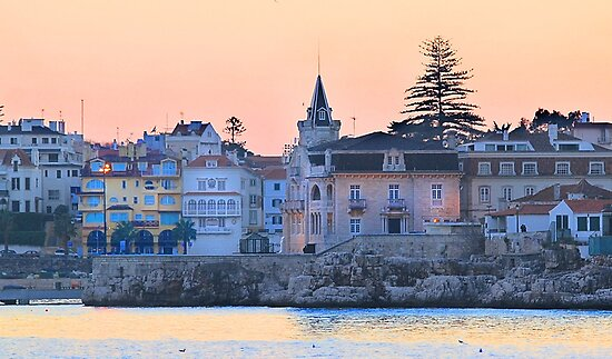 night fall at Cascais by tereza del pilar
