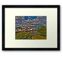 Carmarthen and river towy Framed Print