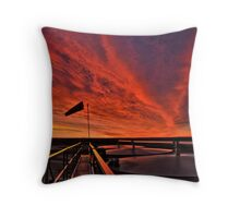 "Sunrise over the "" Bakken ""  Throw Pillow"