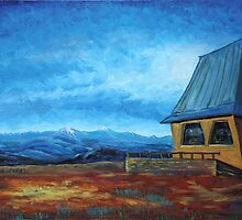 Oil Painting - A View of Italian Alps from Funicular Station 2012 by Igor Pozdnyakov