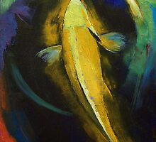 Ogon Koi and Water Ripple by Michael Creese