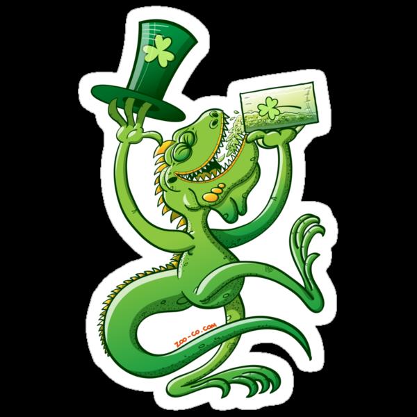 Saint Patrick's Day Iguana by Zoo-co