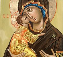 Vladimir Icon of the Mother of God by Alla Melnichenko