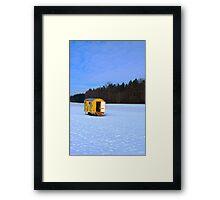 Little yellow trailer Framed Print